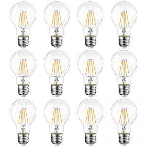 LVWIT 8W Ampoule LED Filament E27 A60, Equivalent à Ampoule halogène 60W, 806Lm 2700K Blanc Chaud, Ampoule Vintage LED, Non Dimmable, Lot de 12 de la marque LVWIT image 0 produit