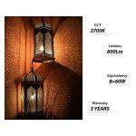 LVWIT 8W Ampoule LED Filament E27 A60, Equivalent à Ampoule halogène 60W, 806Lm 2700K Blanc Chaud, Ampoule Vintage LED, Non Dimmable, Lot de 6 de la marque LVWIT image 3 produit