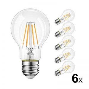 LVWIT 8W Ampoule LED Filament E27 A60, Equivalent à Ampoule halogène 60W, 806Lm 2700K Blanc Chaud, Ampoule Vintage LED, Non Dimmable, Lot de 6 de la marque LVWIT image 0 produit