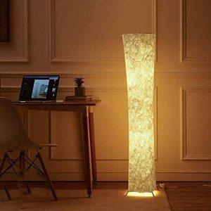 lvyuan Lampadaire Design Moderne Lampe de Sol Abat-jour en Tissu Plissé avec 2 Ampoules LED pour Salon Chambre Decoration 26x26x132cm Europäischer Netzstecker de la marque lvyuan image 0 produit