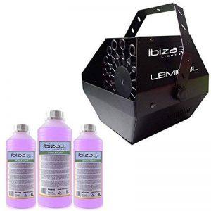 Machine à bulles Noir grand débit IBIZA LIGHT LBM-10 pour mariages, soirées, Dj, avec 3L de liquide de la marque Ibiza light image 0 produit
