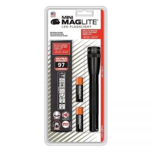 Mag-Lite Mini 2AA LED, 97 lumens, 17 cm noir avec 2 AA piles et étui en nylon, SP2201H de la marque Mag-Lite image 0 produit