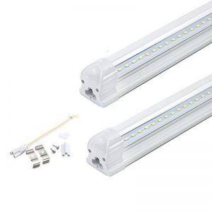 Maidodo 2x T8 G13 Intégré LED Tubes Fluorescents Lampe 120cm 18W 1620LM 96SMD Blanc Froid 6000-6500K Couverture Transparent de la marque Maidodo image 0 produit