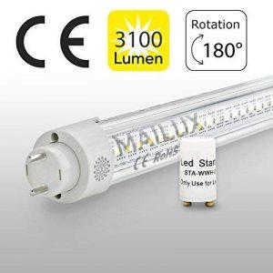 MAILUX mLXTT305Y tube lED t8/g13 150 cm/30 w/3000, tube/transparent 4000 6000 k, équivalent de 58 w avec démarreur// cOMPaTIBLE kVG frais neutralweiss 4000° K de la marque MAILUX image 0 produit