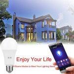 MARRYME Ampoules LED Connectées Wi-Fi E27,7W équivalent 65W Smartphone Télécommande Ampoules Intelligente Compatible avec Google Home/Amazon Echo Alexa Millions Couleurs de la marque MARRYME image 4 produit