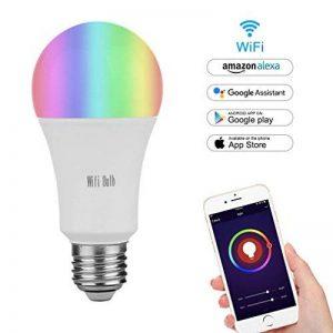 MARRYME Ampoules LED Connectées Wi-Fi E27,7W équivalent 65W Smartphone Télécommande Ampoules Intelligente Compatible avec Google Home/Amazon Echo Alexa Millions Couleurs de la marque MARRYME image 0 produit