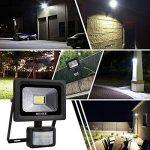 MEIKEE Projecteur LED détecteur de mouvement, 10W 1000LM eclairage exterieur led avec detecteur IP66 Eclairage de sécurité idéal pour éclairage public, garage, couloir, jardin, etc de la marque MEIKEE image 4 produit