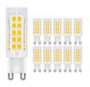 MENTA Ampoule LED G9, 5W Equivalente à Ampoule Incadesent de 40W, 330Lm,3000K Blanc Chaud, Angle de faisceau de 360 dégrés, Non-dimmable,Lot de 10 de la marque MENTA image 0 produit