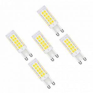 MENTA Ampoule LED G9, 5W Equivalente à Ampoule Incadesent de 40W, 330Lm,6000K Blanc Froid, Angle de faisceau de 360 dégrés, Non-dimmable,Lot de 5 de la marque MENTA image 0 produit