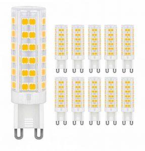 MENTA Ampoule LED G9, 7W Equivalente à Ampoule Incadesent de 60W, 450Lm,3000K Blanc Chaud, Angle de faisceau de 360 dégrés, Non-dimmable,Lot de 10 de la marque MENTA image 0 produit