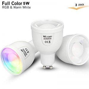 Mi-light 2,4G télécommande sans fil de contrôle et d'Ac86–265V 9W à changement de couleur RGB + CCT Blanc chaud ou blanc froid extérieur LED Jardin Flood spot de la marque Mi-Light image 0 produit