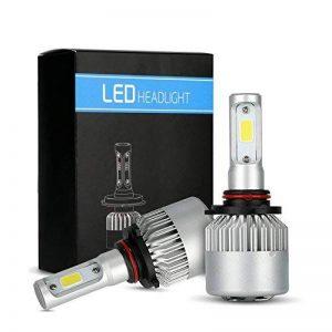 MiCarBa Ampoules de phare de voiture 9006 Hi/Lo haute basse double faisceau 30Wx2 3000LM LED s'allume pour la voiture HB4 LED Kit de conversion de phare remplacer pour ampoules halogène HID (LS-9006) de la marque MiCarBa image 0 produit