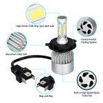 MiCarBa Phares LED H4 Ampoule 72W 8000LM Super lumineux ampoules de phares de voiture étanche Cool Blanc 6500K COB LED Phare Kit de conversion remplacer pour ampoules halogène HID (H4/HB2/9003) de la marque MiCarBa image 3 produit