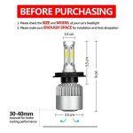 MiCarBa Phares LED H4 Ampoule 72W 8000LM Super lumineux ampoules de phares de voiture étanche Cool Blanc 6500K COB LED Phare Kit de conversion remplacer pour ampoules halogène HID (H4/HB2/9003) de la marque MiCarBa image 2 produit