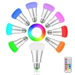 Minger 10W Ampoules LED RGBW (Rouge Vert Bleu et Blanc) Changement de Couleur Dimmable LED Bulbs E27 Magique Lampes d'ambiance avec Télécommande Sans Fil de la marque Minger image 1 produit