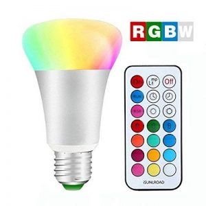 Minger 10W Ampoules LED RGBW (Rouge Vert Bleu et Blanc) Changement de Couleur Dimmable LED Bulbs E27 Magique Lampes d'ambiance avec Télécommande Sans Fil de la marque Minger image 0 produit