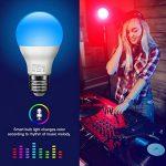 Minger Ampoules LED RGBW Changement de Couleur E27 Synchro à la Musique Dimmable LED Éclairage Multicolore Magique Lampes d'ambiance par APP Compatible avec Tous les IOS&Android Smartphones Apple, Samsung etc. de la marque Minger image 2 produit