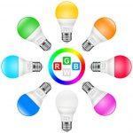 Minger Ampoules LED RGBW Changement de Couleur E27 Synchro à la Musique Dimmable LED Éclairage Multicolore Magique Lampes d'ambiance par APP Compatible avec Tous les IOS&Android Smartphones Apple, Samsung etc. de la marque Minger image 3 produit