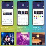 Minger Ampoules LED RGBW Changement de Couleur E27 Synchro à la Musique Dimmable LED Éclairage Multicolore Magique Lampes d'ambiance par APP Compatible avec Tous les IOS&Android Smartphones Apple, Samsung etc. de la marque Minger image 1 produit