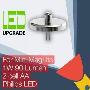 Mini Maglite LED Ampoule Conversion/mise à niveau pour Mini Maglite Lampe torche/lampe torche 2AA Cellule Philips LED de la marque TorchUpgrades image 0 produit