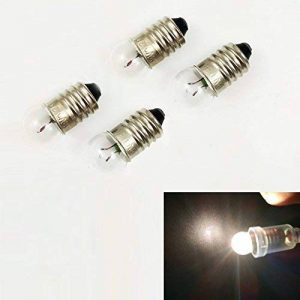Miniature Culot à vis ampoule E10lampe torche lampe de travail (lot de 10), 3V 0.3A de la marque EIYYLED image 0 produit