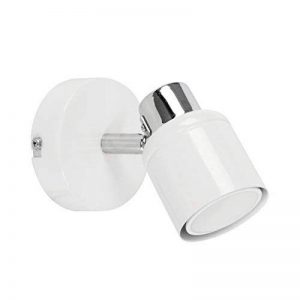 MiniSun 1 spot - Plafonnier, ou comme Applique. Moderne avec Nuances Rétro Avec Tête Réglable En Blanc Brillant & Chrome. Élégant et Pratique de la marque MiniSun image 0 produit