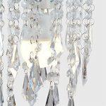 MiniSun Abat-Jour Abats Jour pour Lustre ou Suspension, Gouttelettes / Pampilles (acrylique) Clair en CASCADE avec cadre en chrome, Adapté Pour Douille de 28mm ou 42mm de la marque MiniSun image 4 produit