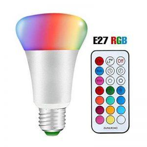 Minkle 10W Ampoules LED RGB Changement de Couleur Dimmable LED Bulbs E27 Lampes d'ambiance avec Télécommande Sans Fil, RGB+blanc de la marque Minkle image 0 produit