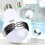 Miric Ampoule intelligente Sparin, Ampoule LED RGB avec 7 couleurs E26/E27 avec Haut-Parleur Bluetooth, Musique Audio Minuterie Intégré Compactible avec Appareils iOS et Android pour Maison et Scène de la marque Miric image 4 produit