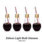 Mixology Lot de 4 verres style ampoules Edison de la marque Mixology image 1 produit