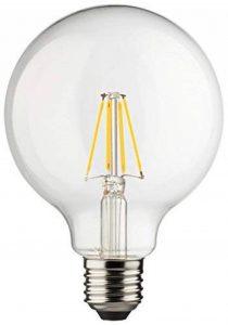 Müller-Licht 400202A + +, rétro lampe LED Mini Globe remplace 75W, verre, 8W, E27, Blanc, 9,5x 9,5x 14cm de la marque Müller-Licht image 0 produit
