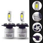 Modoca 2 x H4 LED Phares Voiture Ampoules, 72W 8000LM, IP68 Etanche, H4 LED phares Ampoules 8000LM Super Bright 6500K lumière Blanche Ampoules de la marque Modoca image 1 produit