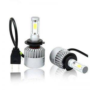 Modoca 2 x H7 LED Phares Voiture Ampoules, 110W, IP68 Etanche, H7LED phares Ampoules 11000LM Super Bright 6500K lumière Blanche Ampoules de la marque Modoca image 0 produit