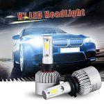 Modoca 2 x H7 LED Phares Voiture Ampoules, 110W, IP68 Etanche, H7LED phares Ampoules 11000LM Super Bright 6500K lumière Blanche Ampoules de la marque Modoca image 4 produit