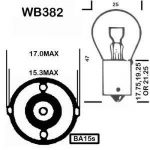 Motionperformance Essentials BA15S Lot de 10 ampoules type 382 12V 21W de la marque Lumax image 1 produit