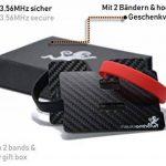 MOTR™ 5mm Porte cartes de crédit minimaliste avec compartiment (vraie fibre de carbone). Protection bloquante des signaux NFC & RFID. (Mini Étui de carte de crédit slim, portefeuille fin pour hommes) de la marque MakakaOnTheRun image 4 produit