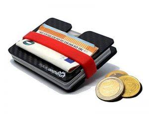 MOTR™ 5mm Porte cartes de crédit minimaliste avec compartiment (vraie fibre de carbone). Protection bloquante des signaux NFC & RFID. (Mini Étui de carte de crédit slim, portefeuille fin pour hommes) de la marque MakakaOnTheRun image 0 produit