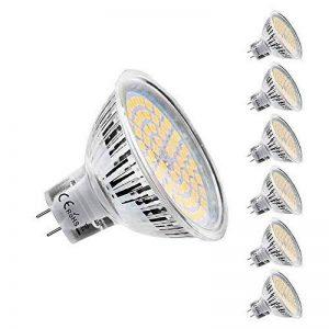 MR16 Ampoule LED Lampe Bulb, KDP GU5.3 5W Lumière LED, Equivalent 50W Ampoule Halogène Blanc Chaud 2800K 450LM AC/DC 12V Non-dimmable Spot LED (Lot de 6) de la marque KDP image 0 produit