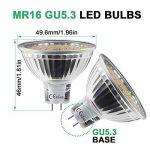 MR16 Ampoule LED Lampe Bulb, KDP GU5.3 5W Lumière LED, Equivalent 50W Ampoule Halogène Blanc Chaud 2800K 450LM AC/DC 12V Non-dimmable Spot LED (Lot de 6) de la marque KDP image 3 produit