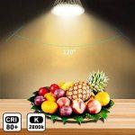 MR16 Ampoule LED Lampe Bulb, KDP GU5.3 5W Lumière LED, Equivalent 50W Ampoule Halogène Blanc Chaud 2800K 450LM AC/DC 12V Non-dimmable Spot LED (Lot de 6) de la marque KDP image 2 produit