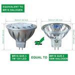 MR16 GU5.3 LED 12V Blanc Froid 6000K 50W Ampoules Halogène Equivalente, 7W Spot Led Lampe, Culot GU 5.3, Diamètre de 50mm, 560lm, 38 degrés, Lot de 6 de la marque AlideTech image 2 produit