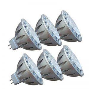MR16 GU5.3 LED 12V Blanc Froid 6000K 50W Ampoules Halogène Equivalente, 7W Spot Led Lampe, Culot GU 5.3, Diamètre de 50mm, 560lm, 38 degrés, Lot de 6 de la marque AlideTech image 0 produit