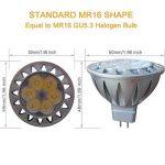 MR16 GU5.3 LED 12V Blanc Froid 6000K 50W Ampoules Halogène Equivalente, 7W Spot Led Lampe, Culot GU 5.3, Diamètre de 50mm, 560lm, 38 degrés, Lot de 6 de la marque AlideTech image 1 produit