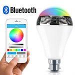 Msc Nouveau Haut-parleur sans fil Bluetooth e27B22& 4.0Smart LED Night Light playbulb Audio Musique RVB Lamp- Smartphone application gratuite controlled- Variateur d'intensité Multicolore LED display-one poche Monstres pour votre Parti Exclusif -- GARA image 2 produit