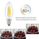 Muizlux C35 Ampoule LED E14 à Filament, LED ampoule 400 Lumen, 4W E14, 2700K, Blanc chaud, Angle360 °, Equivalent à lampe halogène 40W, Lot de 6 [Classe énergétique A+] de la marque MUIZLUX image 2 produit