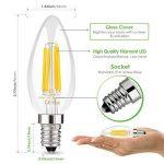 Muizlux C35 Ampoule LED E14 à Filament, LED ampoule 400 Lumen, 4W E14, 2700K, Blanc chaud, Angle360 °, Equivalent à lampe halogène 40W, Lot de 6 [Classe énergétique A+] de la marque MUIZLUX image 1 produit