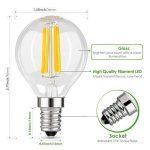 Muizlux G45 Ampoule LED Filament , E14 LED Candle 4W 400 lumens, Replaces 40W incandesent bulb, warm white 2700K, pack of 6 [Energy Class A ++] de la marque MUIZLUX image 1 produit