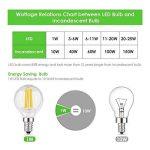 Muizlux G45 Ampoule LED Filament , E14 LED Candle 4W 400 lumens, Replaces 40W incandesent bulb, warm white 2700K, pack of 6 [Energy Class A ++] de la marque MUIZLUX image 3 produit