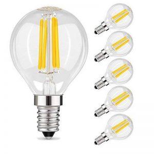 Muizlux G45 Ampoule LED Filament , E14 LED Candle 4W 400 lumens, Replaces 40W incandesent bulb, warm white 2700K, pack of 6 [Energy Class A ++] de la marque MUIZLUX image 0 produit