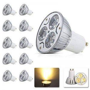 MUMENG 10X GU10 Ampoule LED High Power LED 3W Lumières Culot LED Lumineux (230LM-250LM) Blanc Chaud éclairages (2800K-3200K) Ampoule Lampe AC95-240V de la marque MUMENG image 0 produit